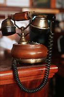 """Cuba/La Havane: Détail de vieux téléphone Bar """"La Bodeguita del Medio"""" Calle EMpedrado n°207, La Habana Vieja"""