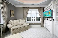 Simple Media Room with Swivel TV