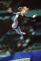 July 22, 1998; New York, NY, USA;  Artistic gymnast Olga Teslenko of Ukraine performs on balance beam at 1998 Goodwill Games New York. Copyright 1998 Tom Theobald