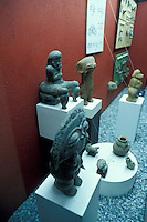 Taino (Arawak) stone figurines in the  Museum of the Dominican Man or Museo del Hombre Dominicano in Santo Domingo, Dominican Republic