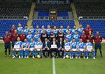 St Johnstone FC photocall Season 2016-17 Premier Sock Tape<br />Back row from left, Ewan Peacock (Chief Scout), Ally Gilchrist, Graham Cummins, Blair Alston, Murray Davidson, Steven Anderson, Brian Easton, Tam Scobbie, Joe Shaughnessy, Brad McKay, Keith Watson, Liam Gordon and George Browning (Academy GK Coach)<br />Middle row, from left, Alistair Stevenson (Academy Manager), Manny Fowler (Kit Manager), Paul Mathers (GK Coach), Craig Thomson, George Hunter, Mark Hurst, Alan Mannus, Zander Clark, David Wotherspoon, Eoghan McCawl, Scott Williams (Physio), Mel Stewart (Asst Physio) and Alex Headrick (Sports Scientist)<br />Front row from left, Liam Craig, Paul Paton, Steven MacLean, Dave Mackay, Callum Davidson (Asst Manager), Tommy Wright (Manager), Alec Cleland (1st Team Coach), Chris Millar, Danny Swanson, Chris Kane and Michael Coulson.<br />Picture by Graeme Hart.<br />Copyright Perthshire Picture Agency<br />Tel: 01738 623350  Mobile: 07990 594431