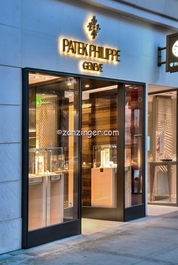 Patek Philippe Beverly Hills CA; Rodeo Drive; Luxury Fashion Boutique, Watches, Vertical
