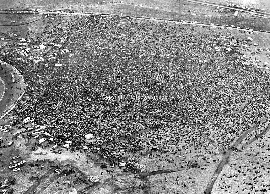 Rolling Stones Free Concert at the Altamont Speedway near Livermore, Ca , with thousands of music lovers attending, marred by violence with Hells Angels members as security Meredith Hunter was killed during .(1969) photo/Ron Riesterer