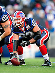 20 December 2009: Buffalo Bills' center Geoff Hangartner prepares to make a snap during a game against the New England Patriots at Ralph Wilson Stadium in Orchard Park, New York. The Patriots defeated the Bills 17-10. Mandatory Credit: Ed Wolfstein Photo