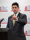 Paul Ryan (R-Wis) addresses the American Boating Congress in Washington DC. Ryan is the United States Representative for Wisconsin's 1st congressional district and current chairman of the House Budget Committee.He was the Republican Party nominee for Vice President of the United States in the 2012 election.
