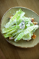 STAMFORD, CT - JULY 17, 2014: A Caesar Salad at Paloma. CREDIT: Clay Williams for Paloma.<br /> <br /> <br /> &copy; Clay Williams / http://claywilliamsphoto.com