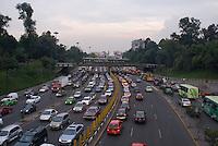 Friday night traffic on Circuito Interior,Night bike riding in Mexico City