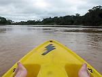 Kayaking in the Tambapota river near Puerto Maldonado, Peru