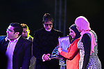 India's megastar Amitabh Bachchan attends a ceremony of the third edition of the India by the Nile festival, in Cairo on March 31, 2015. The organizers said the focus was to get tourists to visit Egypt from India and the idea to bring aboard Bollywood actor Bachchan as the chief guest for the festival this year was designed to promote tourism between the countries. Photo by Amr Sayed