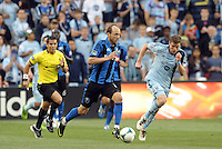 Justin Mapp (21) midfield Montreal Impact in action.<br /> Montreal Impact defeated Sporting Kansas City 2-1 at Sporting Park, Kansas City, Kansas.