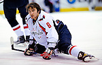 10 February 2010: Washington Capitals' left wing forward and Team Captain Alex Ovechkin stretches out prior to a game against the Montreal Canadiens at the Bell Centre in Montreal, Quebec, Canada. The Canadiens defeated the Capitals 6-5 in sudden death overtime, ending Washington's team-record winning streak at 14 games. Mandatory Credit: Ed Wolfstein Photo