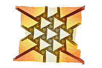 New York, NY, USA - December 14, 2011: Origami tessellation titled Killian designed and folded by Esmé Cribb.