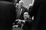 Silvio Berlusconi in conferenza stampa alla Camera