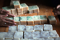 January 28th 2011_ Baucau, TIMOR-LESTE_ A group of women in Baucau, Timor-Leste produce all natural handmade bars of soap.    Photographer: Daniel J. Groshong/The Hummingfish Foundation