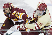 David Grun (Duluth - 27), Kevin Hayes (BC - 12) - The Boston College Eagles defeated the University of Minnesota Duluth Bulldogs 4-0 to win the NCAA Northeast Regional on Sunday, March 25, 2012, at the DCU Center in Worcester, Massachusetts.