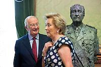 King Albert II Of Belgium & Queen Paola attend the Royal Sculptures Inauguration - Belgium