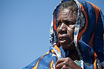 Elderly Fulani woman in the seasonal village of Bantagiri in northern Burkina Faso.  The Fulani are traditionally nomadic pastoralists, crisscrossing the Sahel season after season in search of fresh water and green pastures for their cattle and other livestock.