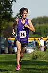 College of Idaho senior Greg Montgomery during the Roger Curran Invitational at West Park in Nampa, Idaho on September 8, 2012. Montgomery, a  six-time NAIA All-American, won the 6K race in 18:29.