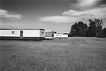 Mobile homes in field, Clinton County, PA 1975