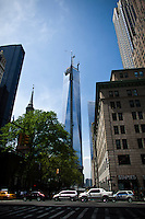 The World Trade Center spire is seen on the top of the building while it has reached 1,776 feet, what makes it, the tallest building in the Western Hemisphere in New York,  May 10, 2013, Photo by Eduardo Munoz Alvarez / VIEWpress.