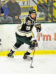12 November 2010: University of Vermont Catamount defenseman Lance Herrington, a Junior from Bow, NH, in action against the Boston College Eagles at Gutterson Fieldhouse in Burlington, Vermont. The Eagles edged out the Cats 3-2 in the first game of their weekend series. Mandatory Credit: Ed Wolfstein Photo