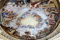The Apotheosis of Washington, painted in 1865 by Constantino Brumidi, located at the top of the recently restored US Capitol dome, is seen from one of the upper levels of the dome during a tour, on November 15, 2016 in Washington, D.C.<br /> Credit: Olivier Douliery / Pool via CNP /MediaPunch
