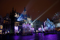 Grand Place in Brussels, Belgium is magical when it is decorated for the Christmas holidays.