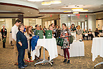 Expo participants watch awards being given out at the Campus Communicator Network Expo in Nelson Commons on Wednesday, May 11, 2016. © Ohio University / Photo by Kaitlin Owens