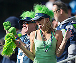 Seattle Seahawks fans heckle the Tampa Bay Buccaneers  at CenturyLink Field in Seattle, Washington on  November 3, 2013.  The Seahawks beat the Buccaneers 27-24 in overtime. ©2013. Jim Bryant. All Rights Reserved.