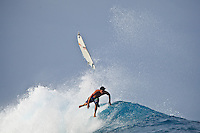 JORDY SMITH (ZAF) surfing at Teahupoo, Tahiti, (Friday May 15 2009.) Photo: joliphotos.com