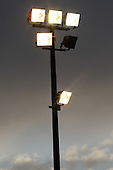 A floodlight at Halstead Town - Cressing Yardley United vs Frontline Reserves - Braintree & North Essex Sunday League Neil Horrocks Memorial Invitation Plate Final at Halstead Town FC - 14/05/12 - MANDATORY CREDIT: Gavin Ellis/TGSPHOTO - Self billing applies where appropriate - 0845 094 6026 - contact@tgsphoto.co.uk - NO UNPAID USE.