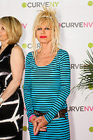 Betsey Johnson on stage at the CURVE and CFDA Party For A Cause event during the CURVENY Lingerie & Swim show, at the Jacob Javits Convention Center, August 2, 2010.