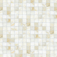 Gridded 4 cm, a hand-cut stone mosaic, shown in polished Cloud Nine.