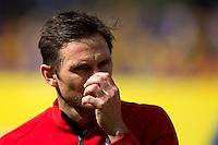 Frank Lampard of England looks dejected