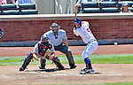 25 July 2012: New York Mets third baseman David Wright in action against the Washington Nationals at Citi Field in Flushing, NY. The Nationals defeated the Mets 5-2 to sweep their 3-game series. Mandatory Credit: Ed Wolfstein Photo