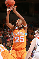 CHARLOTTESVILLE, VA- NOVEMBER 20: Glory Johnson #25 of the Tennessee Lady Volunteers shoots a free throw during the game on November 20, 2011 against the Virginia Cavaliers at the John Paul Jones Arena in Charlottesville, Virginia. Virginia defeated Tennessee in overtime 69-64. (Photo by Andrew Shurtleff/Getty Images) *** Local Caption *** Glory Johnson