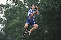 FIERLJEPPEN: IT HEIDENSKIP: 09-07-2014, Oane Galama, ©foto Martin de Jong