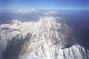 The Fan mountains as seen from an airplane window, Tajikistan.
