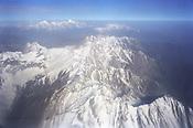 The Fan mountains as seen from an airplane window, Tajikistan.