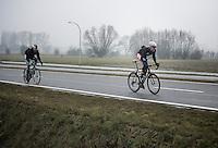 Dwars Door Vlaanderen 2013.Maarten Neyens (BEL) trying to break free