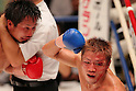 (L to R) Hiroto Fukuhara, Shuhei Tsuchiya, AUGUST 10, 2011 - Boxing : Shuhei Tsuchiya celebrates after the fight during the light weight bout at Korakuen Hall, Tokyo, Japan. Shuhei Tsuchiya won by TKO after the fight was stopped in the ninth round. (Photo by Yusuke Nakanishi/AFLO) [1090]