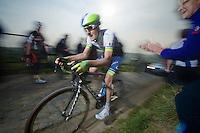 Luke Durbridge (AUS/Orica-GreenEDGE) up the Paterberg (max 20%)<br /> <br /> 57th E3 Harelbeke 2014