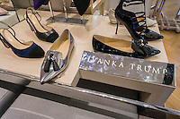 Ivanka Trump designer shoes in Macy's Herald Square in New York on Monday, October 24, 2016. Shoppers are reported to be boycotting  the Ivanka Trump Collection because of her continued support of Donald Trump following his multiple allegations of sexual assault.  (© Richard B. Levine)