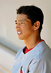 8 March 2006: So Taguchi, outfielder for the St. Louis Cardinals, in the dugout during a Spring Training game against the Washington Nationals. The Cardinals defeated the Nationals 7-4 in 10 innings at Space Coast Stadium, in Viera, Florida...Mandatory Photo Credit: Ed Wolfstein.