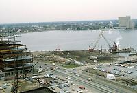 1983 February 10..Redevelopment.Downtown West (A-1-6)..WORLD TRADE CENTER.COSTRUCTION PHOTOS...NEG#.NRHA#..
