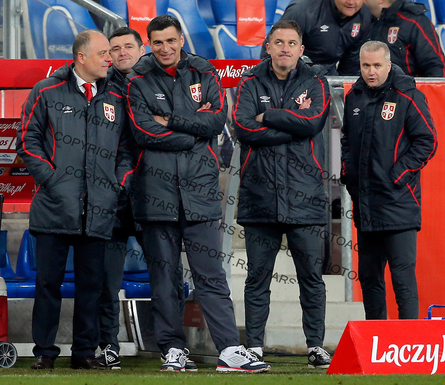 Radovan Curcic Poljska - Srbija prijateljska, Poland - Serbia friendly football match, March 23. 2016. Poznan  (credit image & photo: Pedja Milosavljevic / STARSPORT)