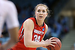 21 March 2015: Liberty's Katelyn Adams. The University of North Carolina Tar Heels hosted the Liberty University Flames at Carmichael Arena in Chapel Hill, North Carolina in a 2014-15 NCAA Division I Women's Basketball Tournament first round game.