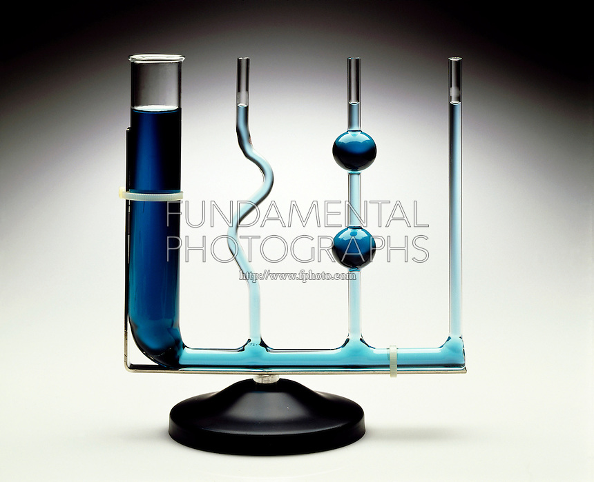 CONSTANT LEVEL TUBES<br /> Equilibrium Tubes<br />  The level of liquids in communicating tubes is the same regardless of their shape. Liquid takes the shape of its container.