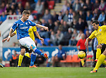 St Johnstone v Alashkert FC...09.07.15   UEFA Europa League Qualifier 2nd Leg<br /> Steven MacLean shoots for goal<br /> Picture by Graeme Hart.<br /> Copyright Perthshire Picture Agency<br /> Tel: 01738 623350  Mobile: 07990 594431
