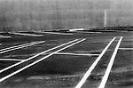 Greyhound Bus Station parking lot. Ventura, California, USA. 2001
